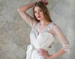 Lingerie For Bride Blush Bridal Robe Bridal Robe Tulle Robe Satin Robe
