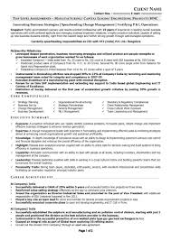 resume format for operations profile free resume samples free cv template download free cv sample management profile resume sample c level manufacturing page 1
