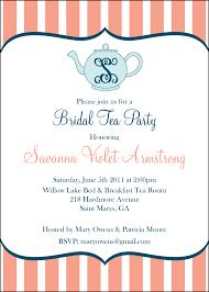 bridal shower tea party invitations free bridal party dresses