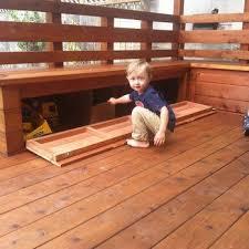 image result for under deck storage box platform deck