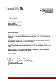commonwealth ombudsman annual report 2005 06 transmittal letter