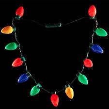 led light up bulb necklace string light favors for