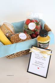 breakfast gift baskets breakfast in bed gift basket idea and printables