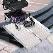 gym equipment 2 u0027 aluminum fold portable wheelchair ramp mobility