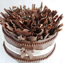 Plain Design Chocolate Cake Decorations Interesting Temper Without