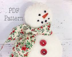 snowman ornament pattern easy sewing pattern