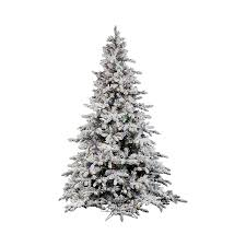 shop vickerman 7 5 ft pre lit flocked artificial tree