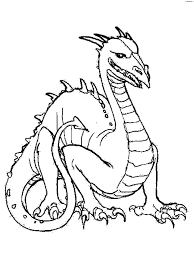interesting graphic dragon coloring pages suited