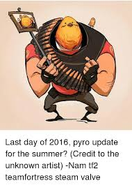 Pyro Meme - last day of 2016 pyro update for the summer credit to the unknown