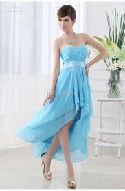 stylish hi lo chiffon beads asymmetrical prom dresses
