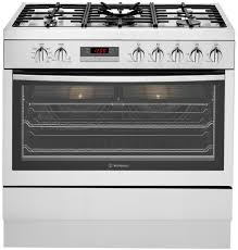 Westinghouse 5 Burner Gas Cooktop Westinghouse Wfe914sa Freestanding Dual Fuel Oven Stove