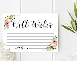 wedding well wishes cards well wishes cards etsy
