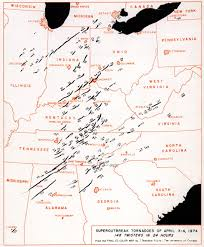 Louisville Zip Code Map by April 3 1974 Meteorology