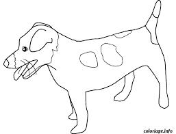 coloriage chien dessin à imprimer gratuit