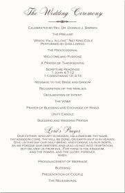 order of ceremony for wedding program wedding ceremony program templates beneficialholdings info