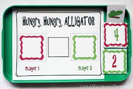 montessori monday greater than less than alligator math
