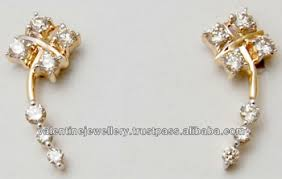 design of earrings daily wear diamond gold earrings low price gold small design