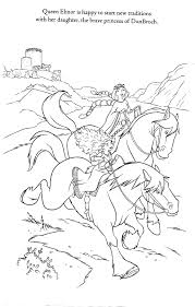 Disney Pixar Brave Coloring Pages Womanmate Com Disney Brave Coloring Pages