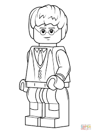 lego minifigures coloring pages lego harry potter coloring page
