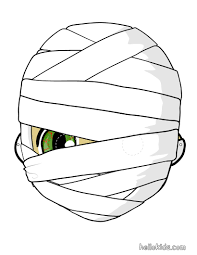 Printable Halloween Masks For Children by How To Craft Mummy Mask Hellokids Com