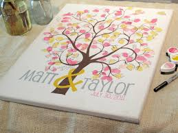 wedding tree guest book this particular canvas can hold 125 175 thumbprints it also has a