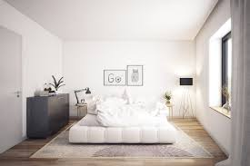 White Soft Rug Bedroom Simple Scandinavian Bedroom Features White Soft Base