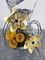 Petites Compositions Florales Composition Florale Fleurs Kusudama En Papier Origami