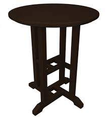 Outdoor Furniture Breezesta Recycled Poly Polywood Traditional 24 Inch Round Dining Table