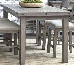 imposing decoration weathered gray dining table strikingly design