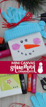 one savvy mom nyc area mom blog mini canvas snowman ornaments