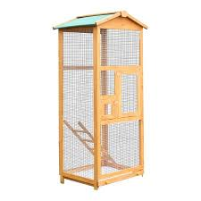 heat l for bird aviary pawhut 65 aviary bird cage walmart com