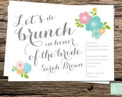 bridal lunch invitations lets do brunch etsy