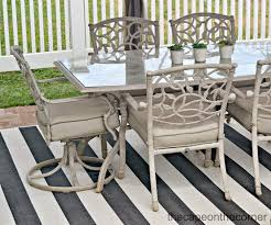 White Patio Dining Set - the cape on the corner black and white backyard makeover