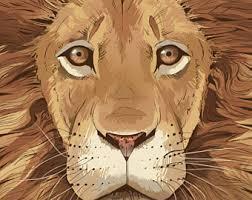 lion print etsy