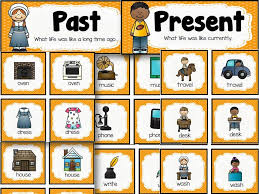 past and present picture sort for teaching about then and now