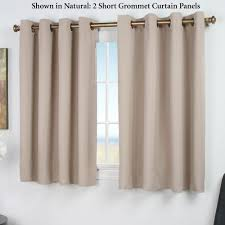 ultimate blackout short grommet curtain panels
