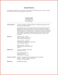 resume sample objective resume cover letter
