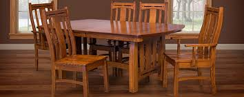 round table van ness amish dining room tables chairs sets mission style cabinfield
