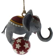 circus elephant on metal ornament set carnival animal
