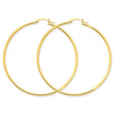 gold hoops earrings 14k yellow gold 2mm hoop earrings salmajewelry