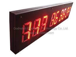 led counter countdown clock outdoor digital counter for