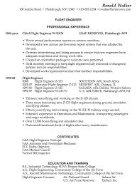 Resume For Airline Job by Resume Sample For A Flight Engineer Susan Ireland Resumes