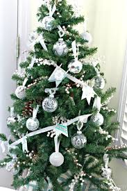 silver tree decoration happy holidays