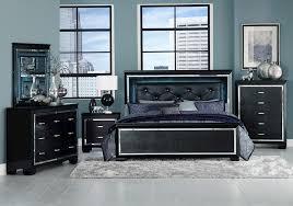 lacks allura black 4 pc queen bedroom set
