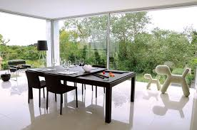 DoubleDuty Furniture Designs - Pool tables used as dining room tables