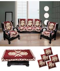 Sofa Seat Covers In Bangalore 58 Off On Fk Beige U0026 Red Sofa Cover With Cushion Cover U0026 Table
