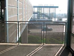 Outdoor Metal Handrails Metal Railing With Bars Outdoor For Balconies Amico