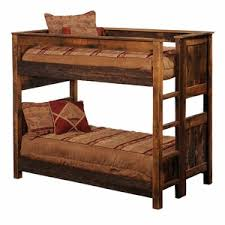 Rustic Log Bunk Beds Trundle Bed Lodge Craft - Log bunk beds