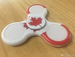 Spin Flag The Canada Flag Fidget Spinner Hand Spinner With Led Light Toy For