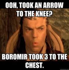 Meme Boromir - remove the top half and boromir becomes first world courage wolf